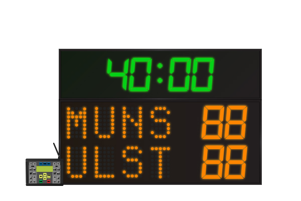 LED Rugby Scoreboard 4 Digit
