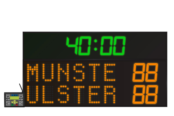 LED Rugby Scoreboard 6 Digit