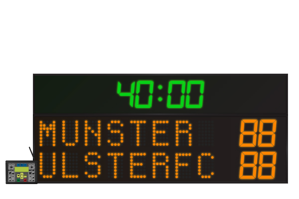 LED Rugby Scoreboard 8 Digit