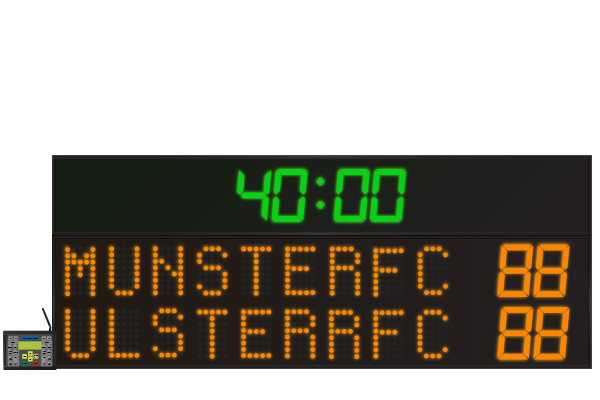 LED Rugby Scoreboard 9 Digit