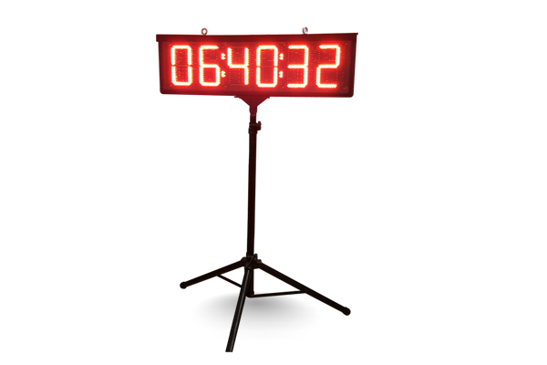 led tripod race clock hire