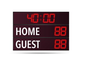 Rugby Soccer Scoreboard Hire