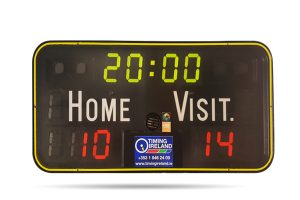 wall mounted basketball scoreboard to hire
