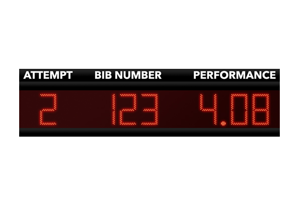 athletics infield scoreboard concentration clock