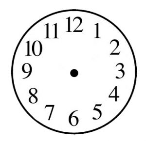 tower clock dial numeric