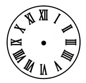 tower clock dial roman serif
