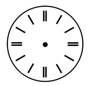 tower clock dial standard