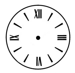 tower clock dial standard roman