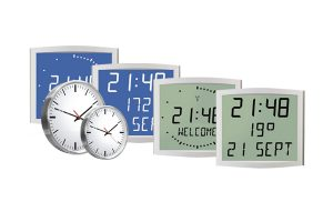 lcd analogue cleanroom clocks