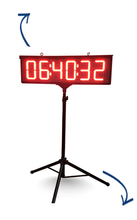 tripod countdown race clock hire