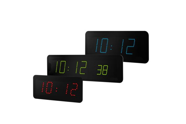 time & temperature clock display