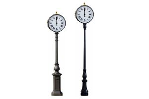 golf course post clocks 1