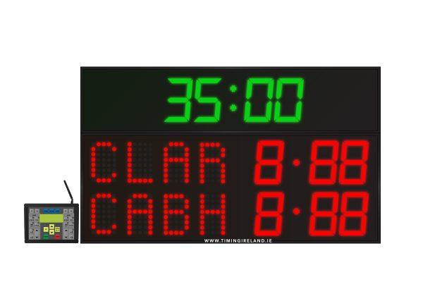 led gaa scoreboard fg 4 red