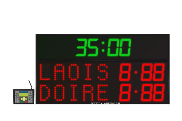 led gaa scoreboard fg 5 red