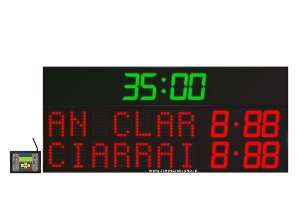 led gaa scoreboard fg 7 red