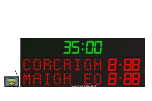 led gaa scoreboard fg 8 red