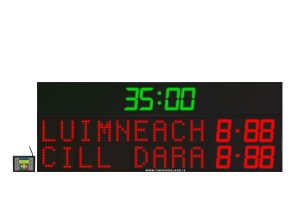 led gaa scoreboard fg 9 red