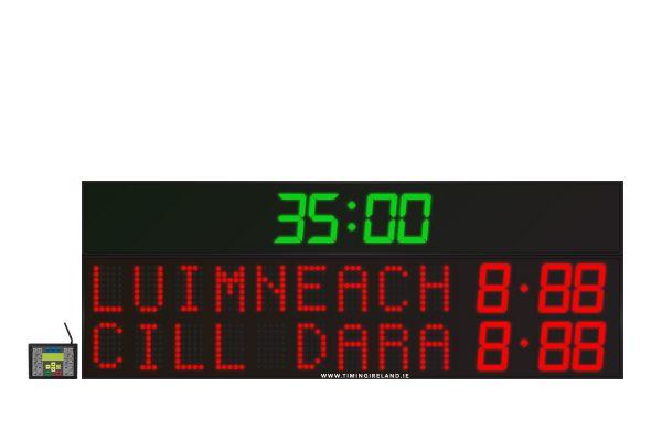 led gaa scoreboard fg 9 red